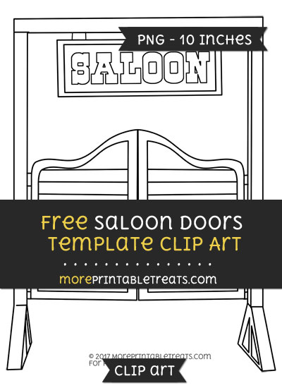 Free Saloon Doors Template - Clipart