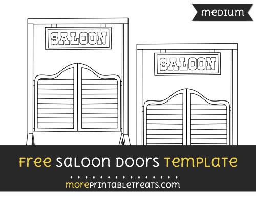 Free Saloon Doors Template - Medium