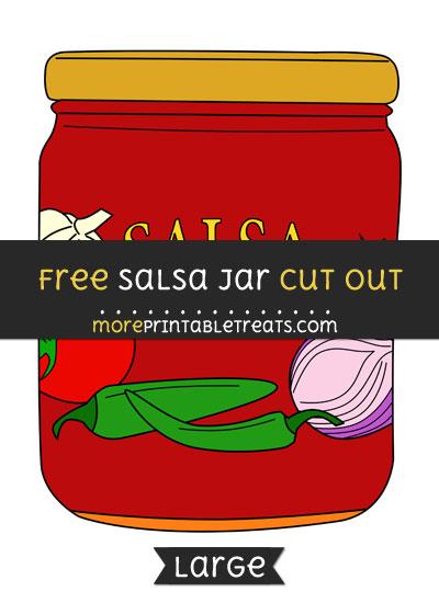 Free Salsa Jar Cut Out - Large size printable