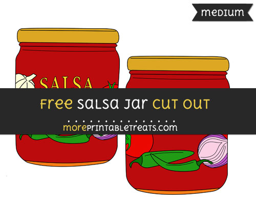 Free Salsa Jar Cut Out - Medium Size Printable