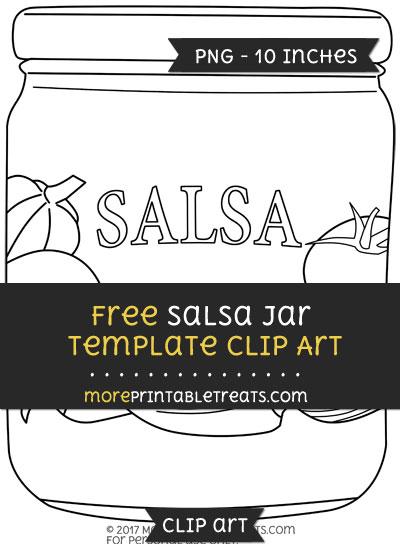 Free Salsa Jar Template - Clipart