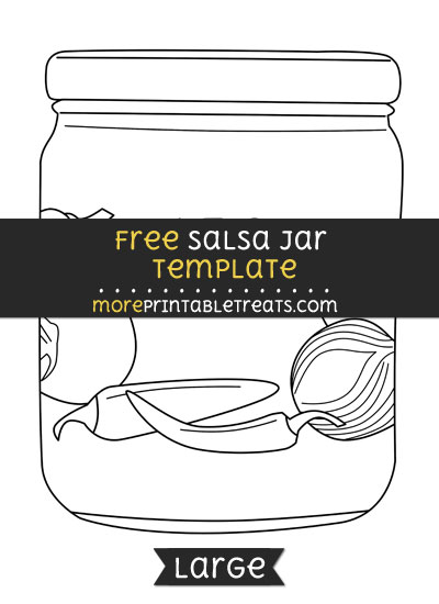 Free Salsa Jar Template - Large