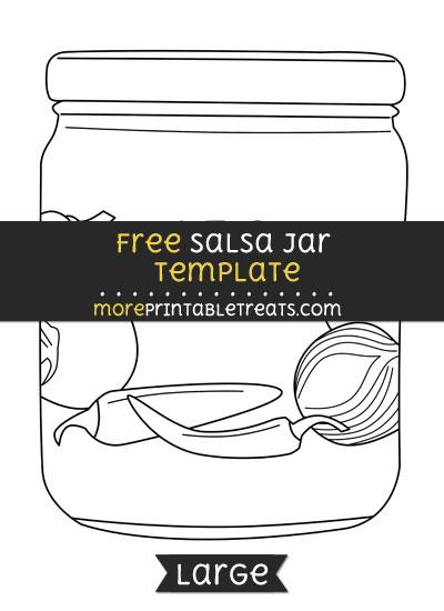 Free Salsa Jar Template - Large