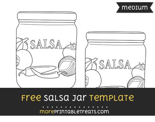 Free Salsa Jar Template - Medium