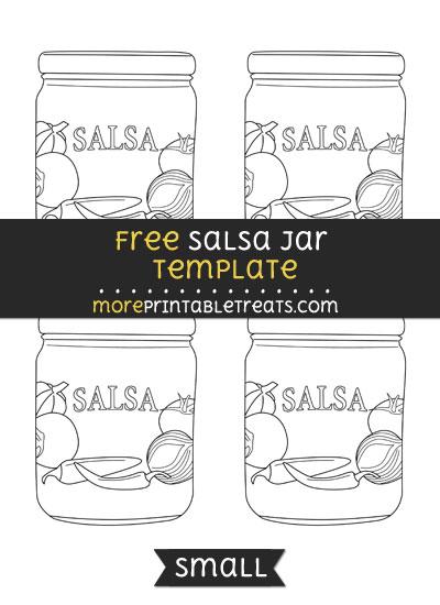 Free Salsa Jar Template - Small