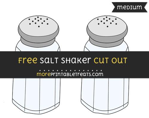 Free Salt Shaker Cut Out - Medium Size Printable