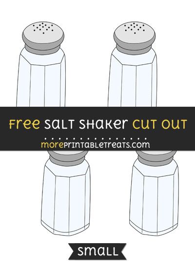 Free Salt Shaker Cut Out - Small Size Printable