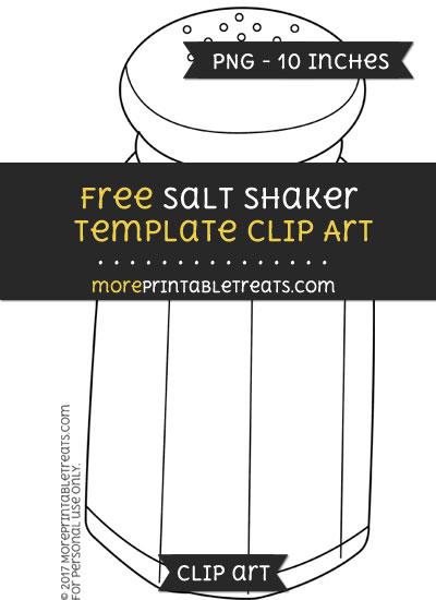 Free Salt Shaker Template - Clipart