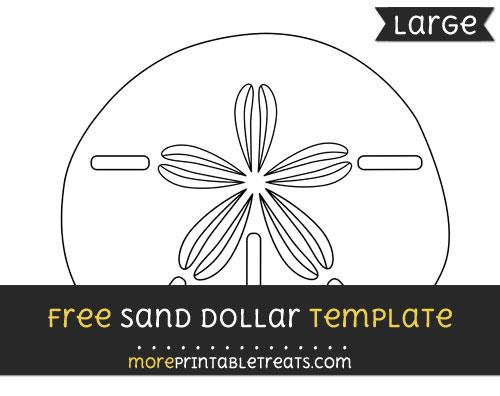 Free Sand Dollar Template - Large
