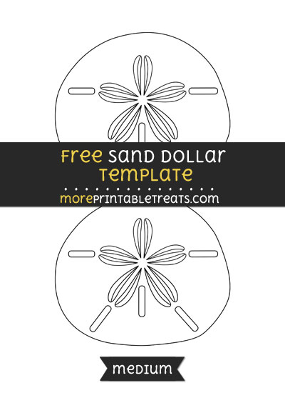 Free Sand Dollar Template - Medium