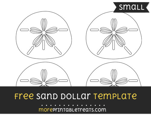 Free Sand Dollar Template - Small