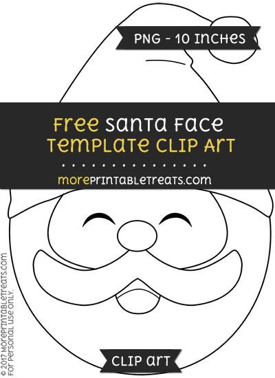 Free Santa Face Template - Clipart