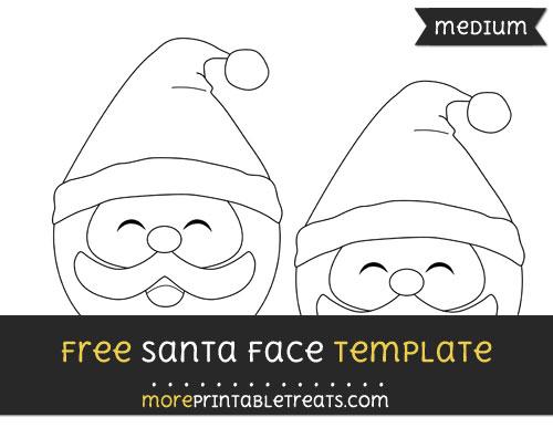 Free Santa Face Template - Medium