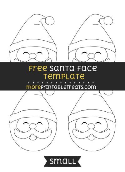 Free Santa Face Template - Small