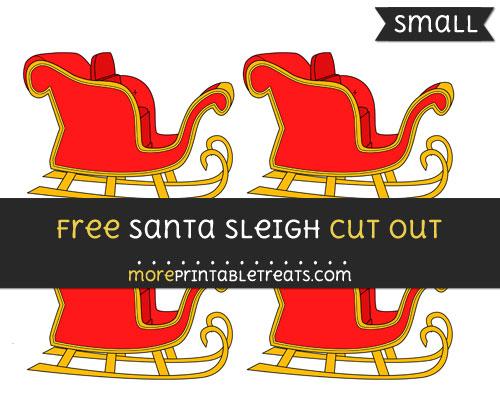 Free Santas Sleigh Cut Out - Small Size Printable
