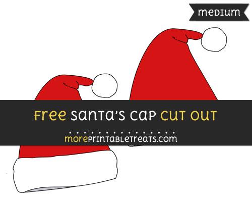 Free Santas Cap Cut Out - Medium Size Printable