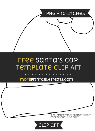 Free Santas Cap Template - Clipart