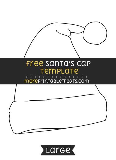 Free Santas Cap Template - Large