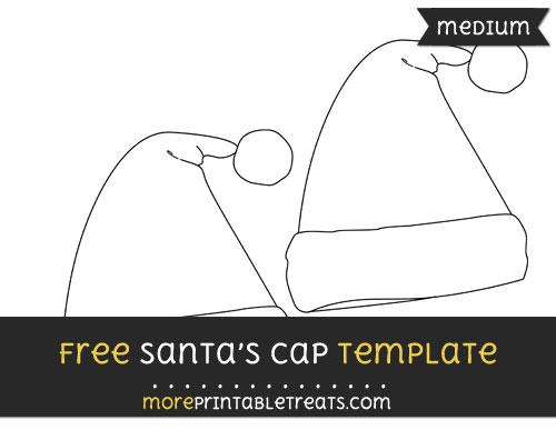 Free Santas Cap Template - Medium