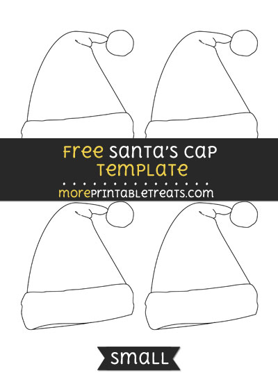 Free Santas Cap Template - Small