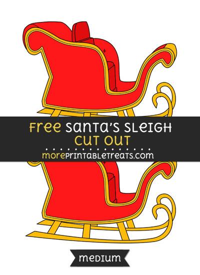Free Santas Sleigh Cut Out - Medium Size Printable