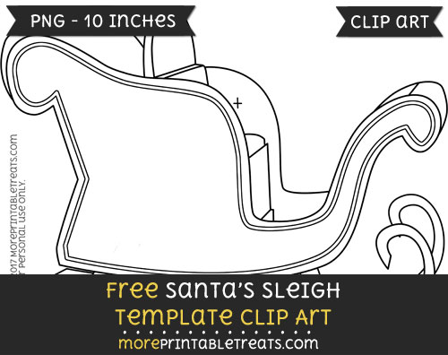 Free Santas Sleigh Template - Clipart