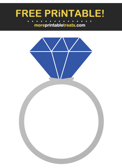 Free Printable Sapphire Blue Engagement Ring
