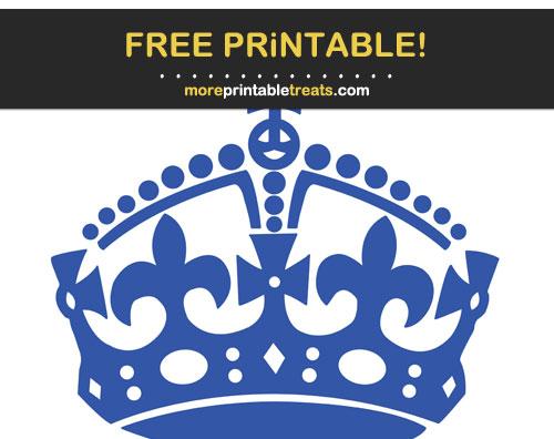 Free Printable Sapphire Blue Keep Calm Crown