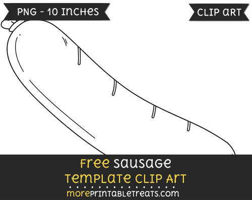 Free Sausage Template - Clipart