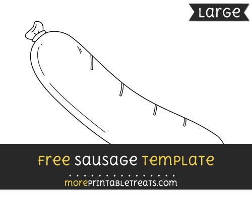 Free Sausage Template - Large