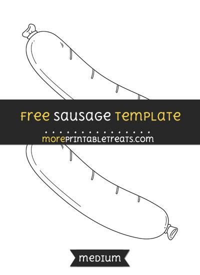Free Sausage Template - Medium