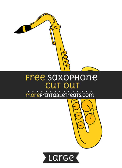 Free Saxophone Cut Out - Large size printable