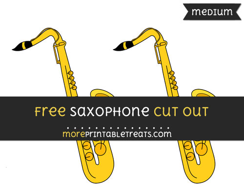 Free Saxophone Cut Out - Medium Size Printable