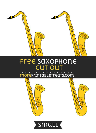 Free Saxophone Cut Out - Small Size Printable