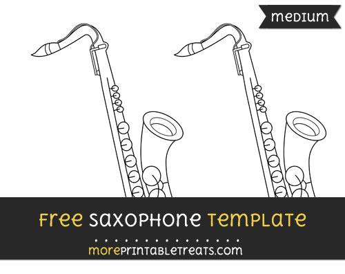 Free Saxophone Template - Medium