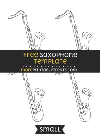 Free Saxophone Template - Small