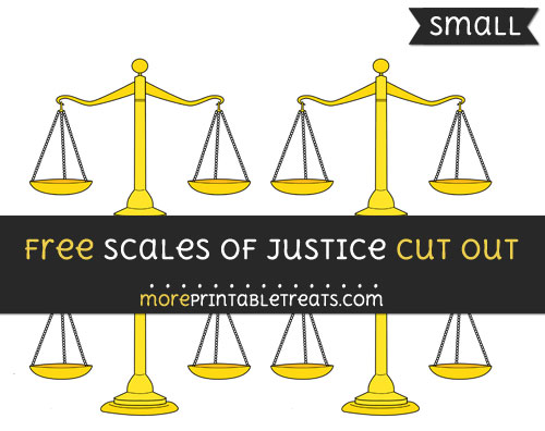 Free Scales Of Justice Cut Out - Small Size Printable