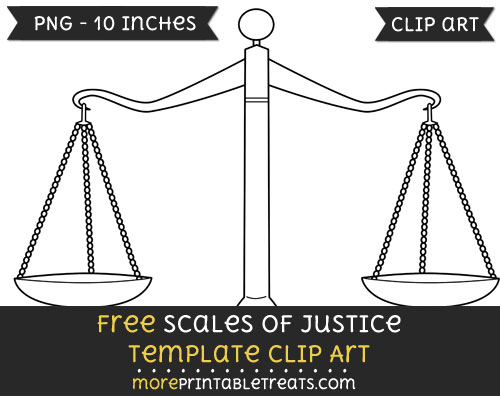 Free Scales Of Justice Template - Clipart