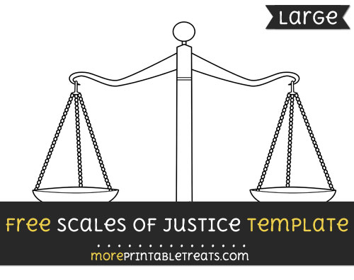 Free Scales Of Justice Template - Large