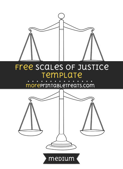 Free Scales Of Justice Template - Medium