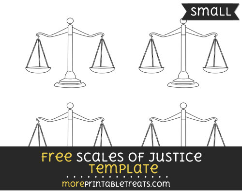 Free Scales Of Justice Template - Small