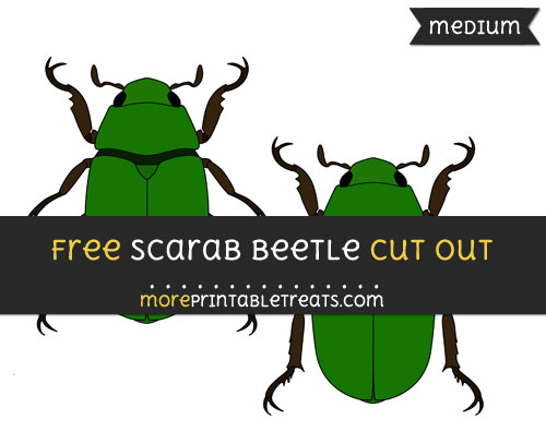 Free Scarab Beetle Cut Out - Medium Size Printable