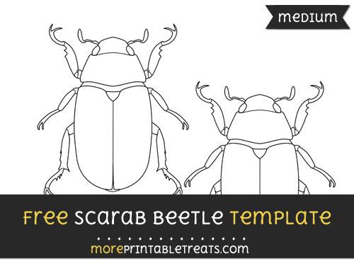 Free Scarab Beetle Template - Medium