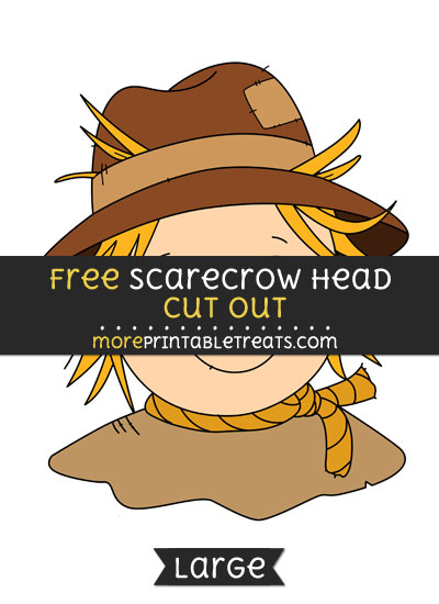 Free Scarecrow Head Cut Out - Large size printable