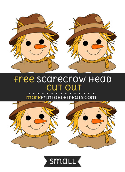 Free Scarecrow Head Cut Out - Small Size Printable