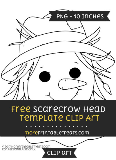 Free Scarecrow Head Template - Clipart