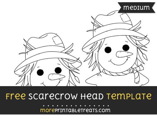 Free Scarecrow Head Template - Medium