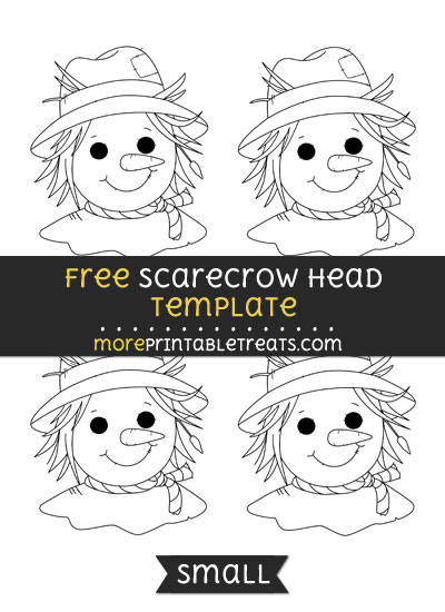 Free Scarecrow Head Template - Small