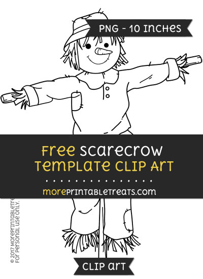 Free Scarecrow Template - Clipart