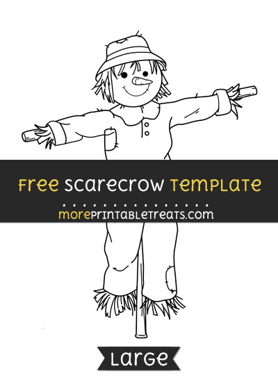 Free Scarecrow Template - Large